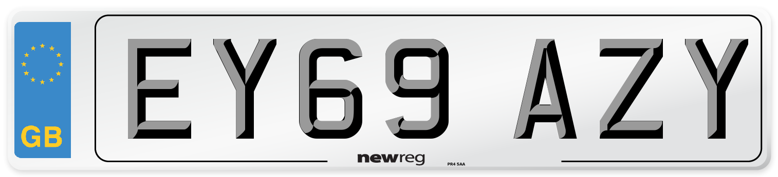 EY69 AZY Number Plate from New Reg